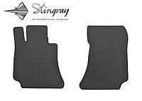 Резиновые коврики Stingray Стингрей Mercedes-Benz W212 E 2009- Комплект из 2-х ковриков Черный в салон. Доставка по всей Украине. Оплата при получении