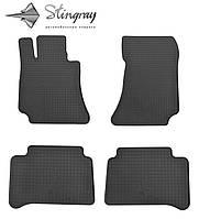 Резиновые коврики Stingray Стингрей Mercedes-Benz W212 E 2009- Комплект из 4-х ковриков Черный в салон. Доставка по всей Украине. Оплата при получении