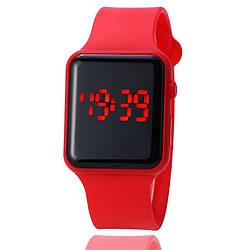 Apple Watch (Реплика), часы светодиодные LED цифровые. Красные