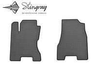 Резиновые коврики Nissan X-Trail (T31) 2007-2014 Комплект из 2-х ковриков Черный в салон. Доставка по всей Украине. Оплата при получении