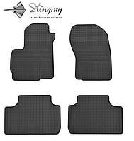 Резиновые коврики Stingray Стингрей Mitsubishi ASX  2010- Комплект из 4-х ковриков Черный в салон. Доставка по всей Украине. Оплата при получении