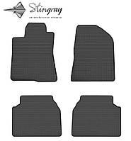 Не скользящие коврики Toyota Avensis NG 2003- Комплект из 4-х ковриков Черный в салон. Доставка по всей Украине. Оплата при получении