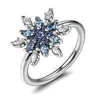 """Серебряное кольцо Пандора (Pandora) """"Блестящая снежинка"""""""