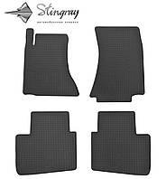 Резиновые коврики Stingray Стингрей Opel Omega B 1993- Комплект из 4-х ковриков Черный в салон. Доставка по всей Украине. Оплата при получении