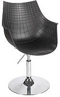 Футуристическое кресло Кристаль В черный пластик АБС дизайнерская копия кресла дизайнера Пьера Попена