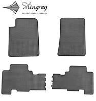 Резиновые коврики SsangYong Kyron  2006- Комплект из 4-х ковриков Черный в салон. Доставка по всей Украине. Оплата при получении