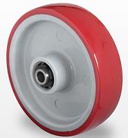 Колеса без кронштейна (красный полиуретан/полиамид)