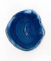 Агатовый срез, синий (10 см.)