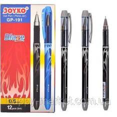 Ручка гелевая Joyko Blaze черная