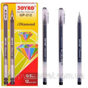 Ручка гелевая Joyko Diamond черная, фото 2