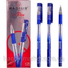 Ручка шариковая Radius I-Pen синяя, с принтом, 12 шт.