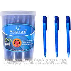 Ручка кулькова Radius 505 в банку чорна 1 мм (на фото синя), 50 шт.
