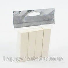 "Мел мягкий Пакет ""Люкс-Колор"" белый квадратный (4 шт.) (16x16x80 мм.)"