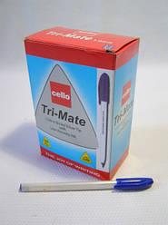 """Ручка Cello """"Tri-Mate"""" 11458 масляная (синяя)  1.0мм /50уп,1000бл"""