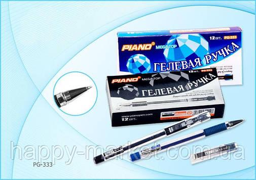 Ручка гелевая Piano PG-333 (синяя), фото 2