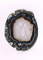 Агатовый срез, коричнево-бежевый (10 см.), фото 1