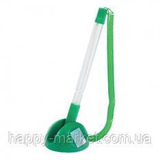 """Ручка настольная 8863 """"Stopen"""" зеленый корпус, на подставке"""