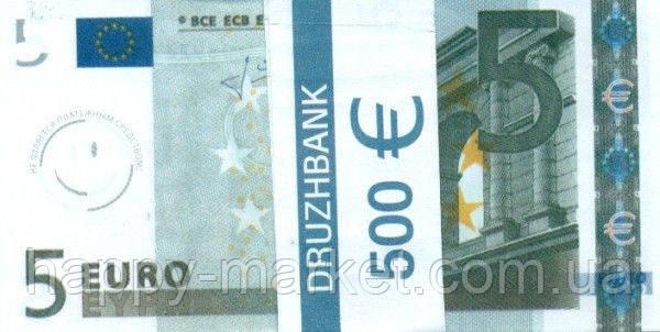 """Пачка денег (сувенир) 001 Евро """"5"""", фото 2"""