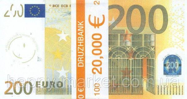"""Пачка денег (сувенир) 006 Евро """"200"""", фото 2"""