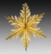 Снежинка голографическая новогодняя (золото,серебро)