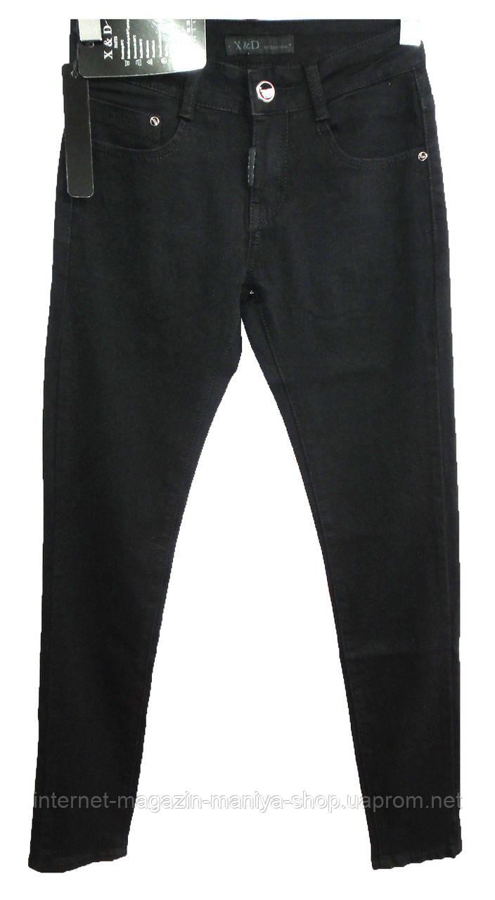 Джинсы женские К-5012 черные (деми)