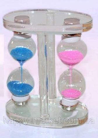 Часы песочные двойные стекло 9.5x7 см. 19-60, фото 2