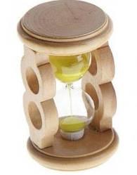 """Часы песочные декоративные """"Round"""" дерево 9.5x5.7 см., mix 0472"""