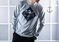 Мужской СВИТШОТ Lacoste (Лакоста, Серый) Gray 🔥