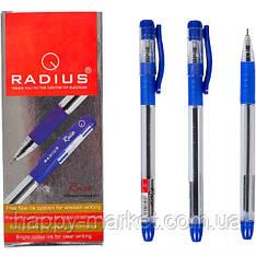 Ручка шариковая Radius Race синяя прозрачная с резинкой, 12 шт.