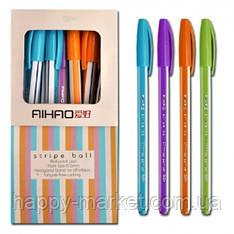 Ручка шариковая Aihao AH563-A черная New/40уп,240бл,2880ящ