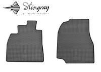 Резиновые коврики Stingray Стингрей Toyota Land Cruiser 100 1998-2007 Комплект из 2-х ковриков Черный в салон. Доставка по всей Украине. Оплата при