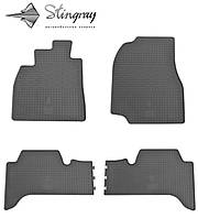 Резиновые коврики Stingray Стингрей Toyota Land Cruiser 100 1998-2007 Комплект из 4-х ковриков Черный в салон