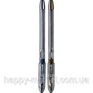 "Ручка Cello ""Gripper"" (синяя, корпус - серебро/золото)"