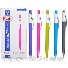"""Ручка шариковая автомат Flair """"Ezee-click"""" синяя 12 уп"""