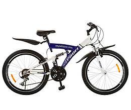 Велосипед 24д. M2415E  сине-белый ZVM