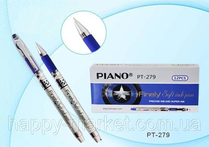 Ручка масляная Piano Finely PT-279 (синяя), фото 2