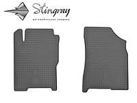 Резиновые коврики Zaz FORZA  2011- Комплект из 2-х ковриков Черный в салон. Доставка по всей Украине. Оплата при получении