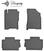 Резиновые коврики Zaz FORZA  2011- Комплект из 4-х ковриков Черный в салон. Доставка по всей Украине. Оплата при получении