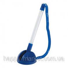 """Ручка настольная 8863 """"Stopen"""" синий корпус, на подставке"""