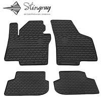 Резиновые коврики Stingray Стингрей Volkswagen Jetta  2011- Комплект из 4-х ковриков Черный в салон. Доставка по всей Украине. Оплата при получении