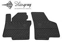 Резиновые коврики Stingray Стингрей Volkswagen Jetta  2011- Комплект из 2-х ковриков Черный в салон. Доставка по всей Украине. Оплата при получении