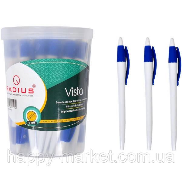 Ручка шариковая Radius Vista в банке синяя 1 мм, 50 шт.
