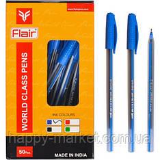 """Ручка шариковая Flair """"Noki"""" (1106) синяя 50уп,2000ящ"""