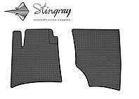 Резиновые коврики Stingray Стингрей Volkswagen Touareg  2002-2010 Комплект из 2-х ковриков Черный в салон. Доставка по всей Украине. Оплата при