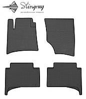 Резиновые коврики Stingray Стингрей Volkswagen Touareg  2002-2010 Комплект из 4-х ковриков Черный в салон. Доставка по всей Украине. Оплата при