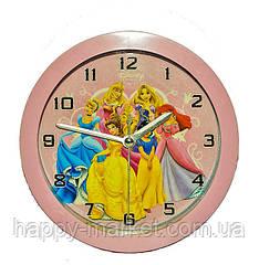 """Часы-будильник """"Принцессы"""" микс рисунков (мультики) 9924"""