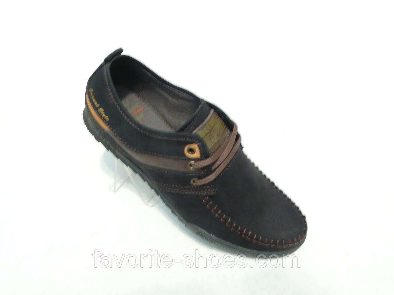 Туфли мужские черные Belvas м.