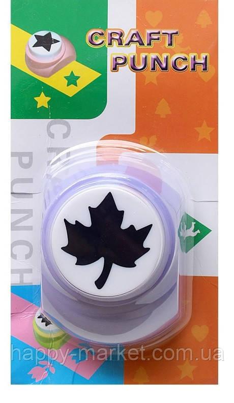 Дырокол фигурный для детского творчества JF-828 №39 Кленовый лист