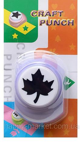 Дырокол фигурный для детского творчества JF-828 №39 Кленовый лист, фото 2