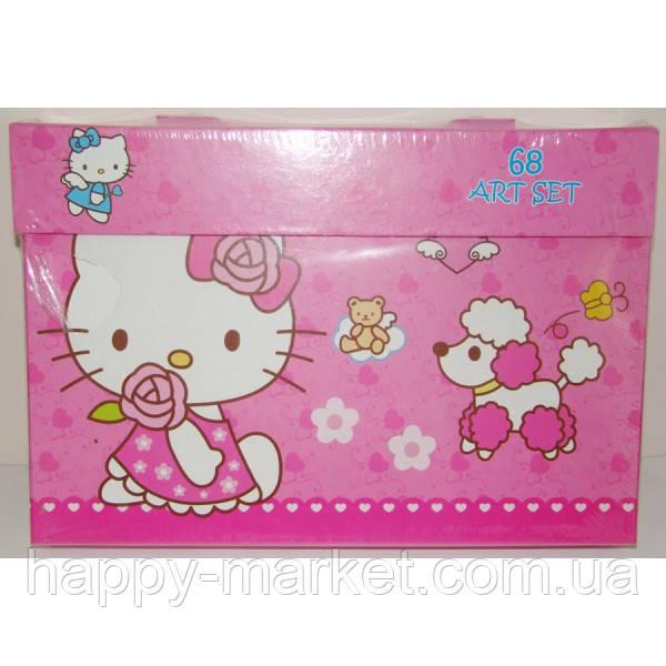 """Набор для детского творчества """"Kitty"""" (68 предметов) чемодан"""